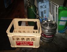 ビールケースの写真